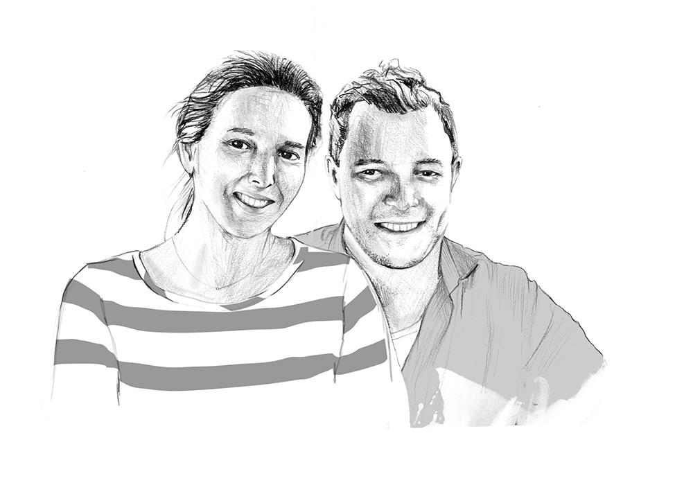 """Portrait """"Sophie & Christian"""""""